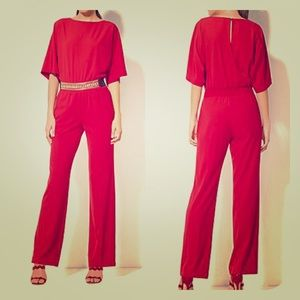 NY&CO red dress pant jumpsuit